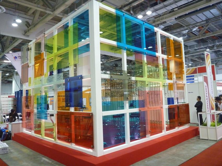 A Plus Glass Vanceva Colours Exhibition Booth Vanceva