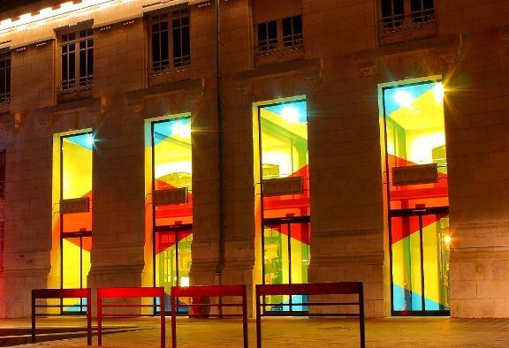 tram station entrance tgv train tours france vanceva color studio. Black Bedroom Furniture Sets. Home Design Ideas