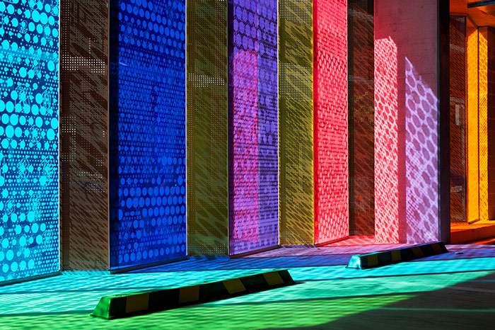 Colored Led Lights >> Spectrum - Printed Glass along with Vanceva interlayers | Vanceva® Color Studio